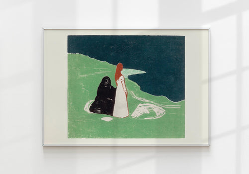"""Two Women on the Shore"" by Edvard Munch Art Poster"