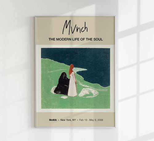Two Women on the Shore by Edvard Munch Art Exhibition Poster