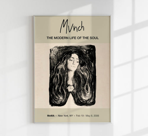 """The Brooch. Eva Mudocci"" by Edvard Munch Art Exhibition Poster"