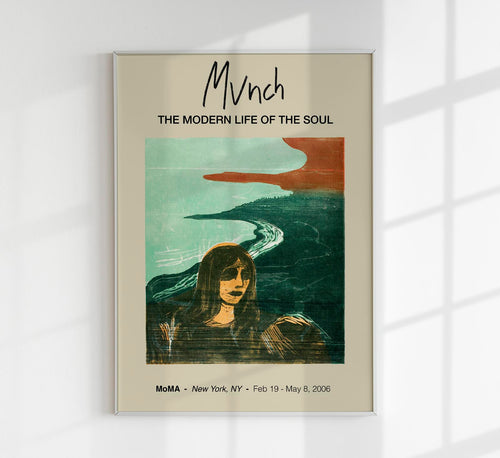 Woman's Head Against the Shore by Edvard Munch Art Exhibition Poster