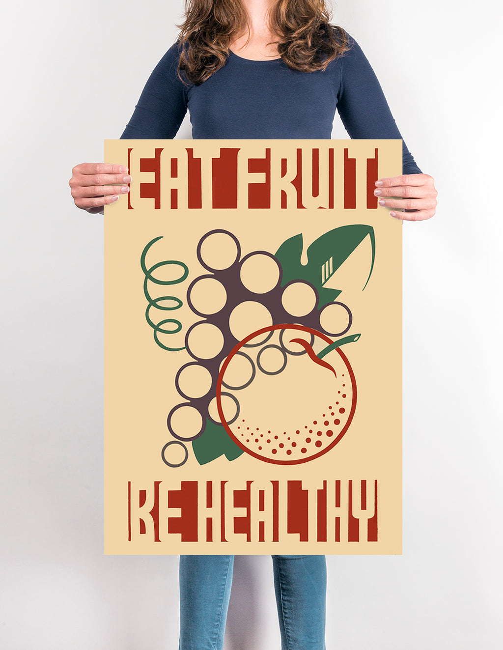 Eat Fruit Be Healthy - Kuriosis Vintage Prints