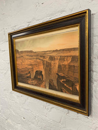 The Grand Canyon Canvas Vintage Wood Frame