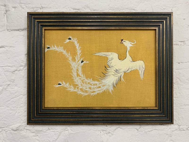 White Phoenix by Sekka Canvas Vintage Wood Frame