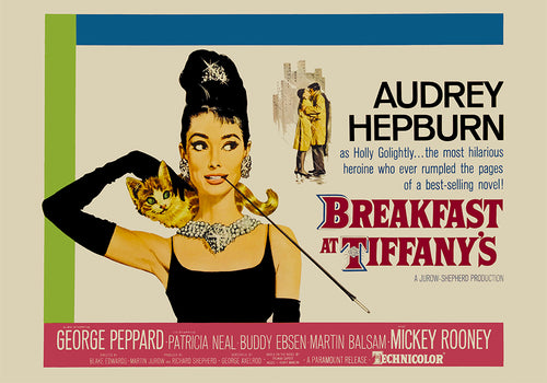 Breakfast at Tiffany's Vintage Movie Poster