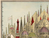 Principal High Buildings of the World Architectural Map - Kuriosis Vintage Prints