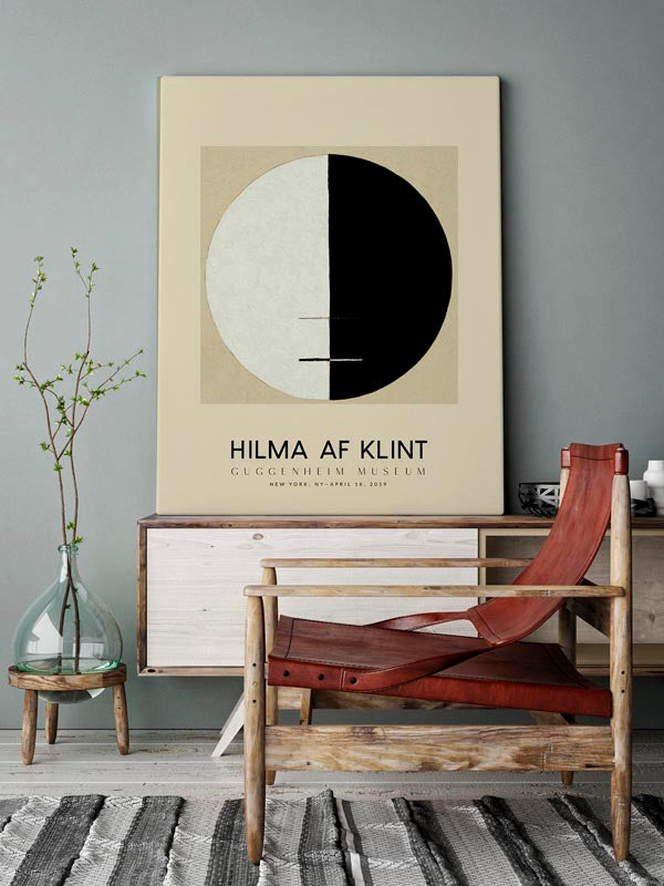 Hilma Af Klint Exhibition Poster Buddha´s Standpoint Nr 3