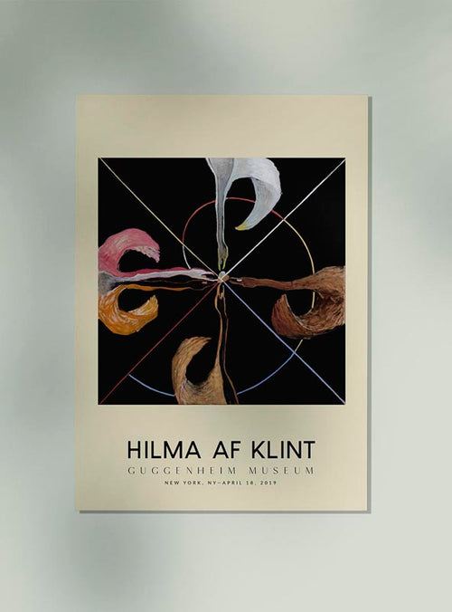 Hilma Af Klint Exhibition Poster The Swan Nr 7