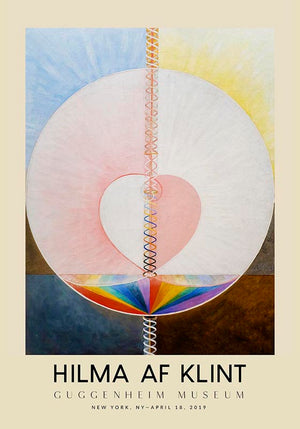Hilma Af Klint Exhibition Poster The Dove Nr 1