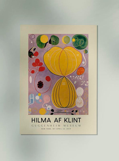 Hilma Af Klint Exhibition Poster The Ten Largest Nr 7