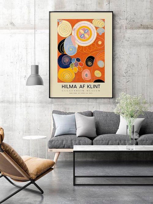 Hilma Af Klint Exhibition Poster The Ten Largest Nr 3