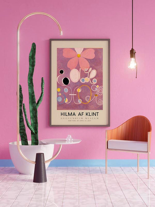 Hilma Af Klint Exhibition Poster The Ten Largest Nr 5