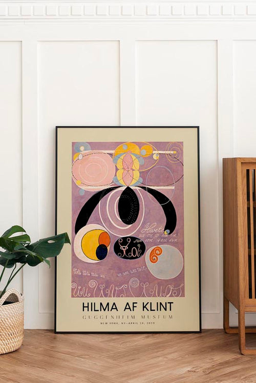 Hilma Af Klint Exhibition Poster The Ten Largest Nr 6