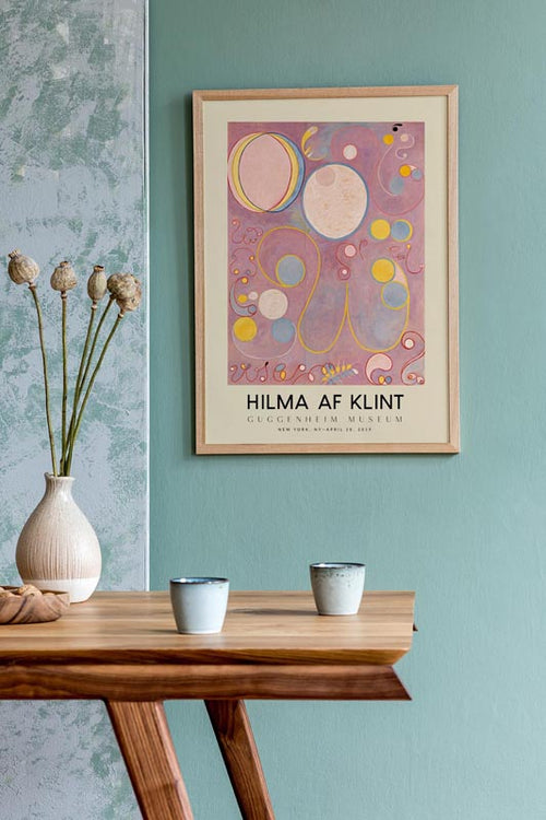 Hilma Af Klint Exhibition Poster The Ten Largest Nr 8