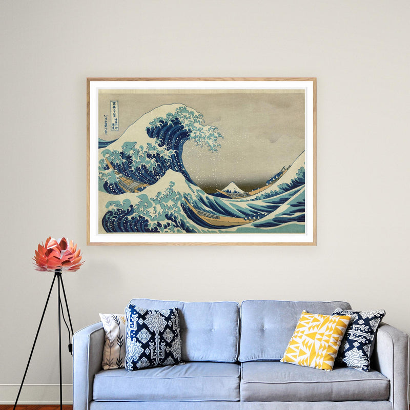 The Great Wave of Kanagawa by Hokusai Poster