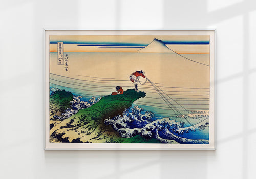 Japanese City Daily Life by Hokusai Japanese Art Poster Nr 2