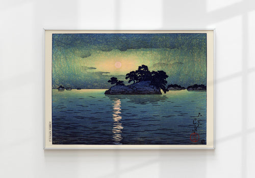 Matsushima in Moonlight by Hasui Japanese Art Poster