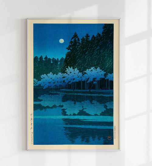 Spring Evening at Inokashira Park by Hasui Japanese Art Poster