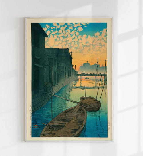 Morning at Onegishi by Hasui Japanese Art Poster