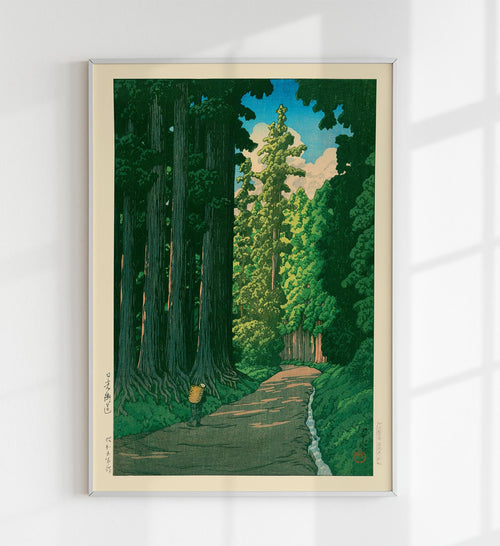 Road to Nikko by Hasui Japanese Art Poster