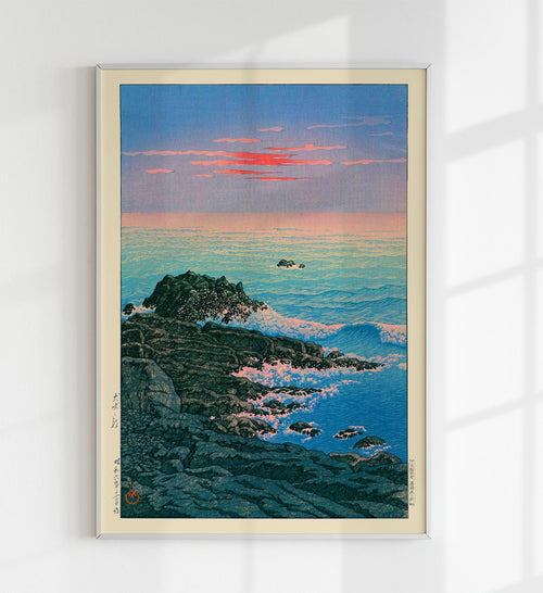 Morning of Cape Inubo by Hasui Japanese Art Poster