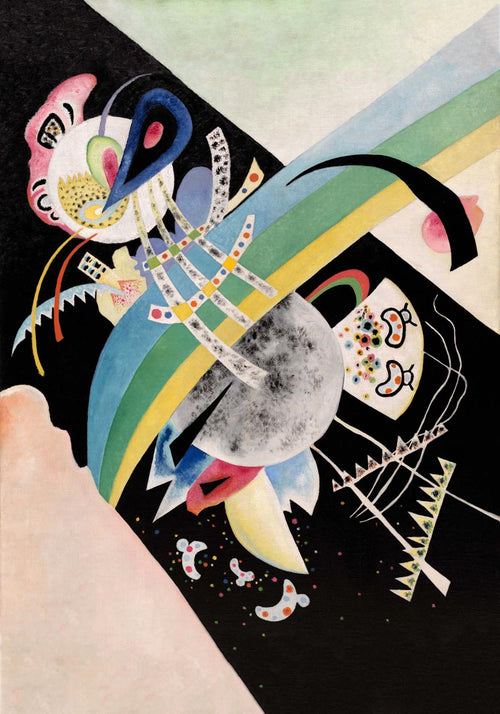 Circles on Black by Wassily Kandinsky Poster
