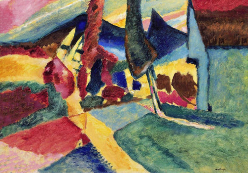 Landscape with two Poplars by Wassily Kandinsky Poster
