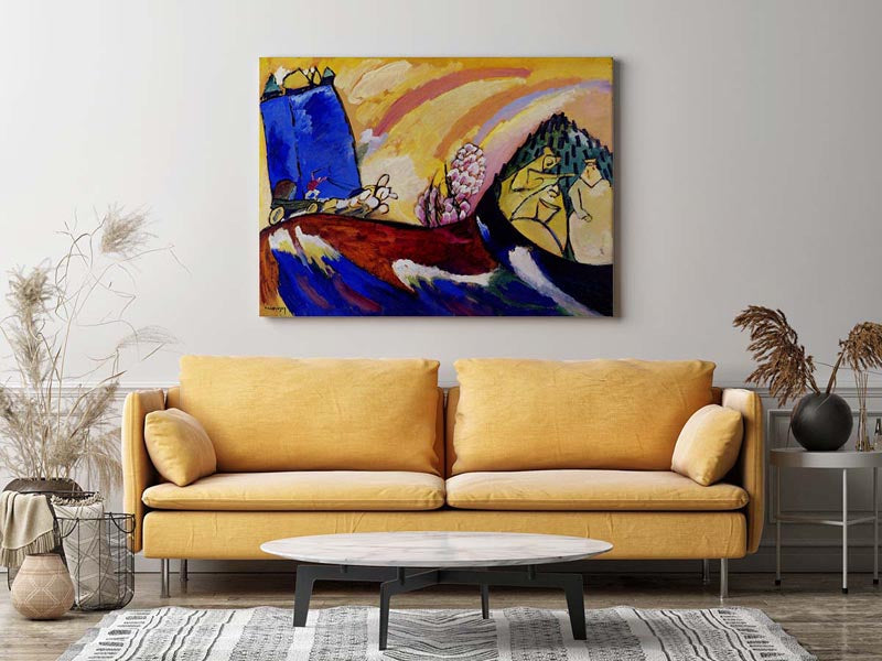 Painting with Troika by Wassily Kandinsky Poster