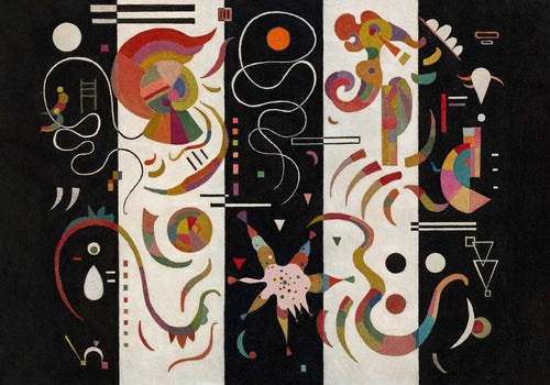 Striped by Wassily Kandinsky Poster