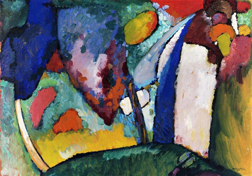 The Waterfall by Wassily Kandinsky Poster