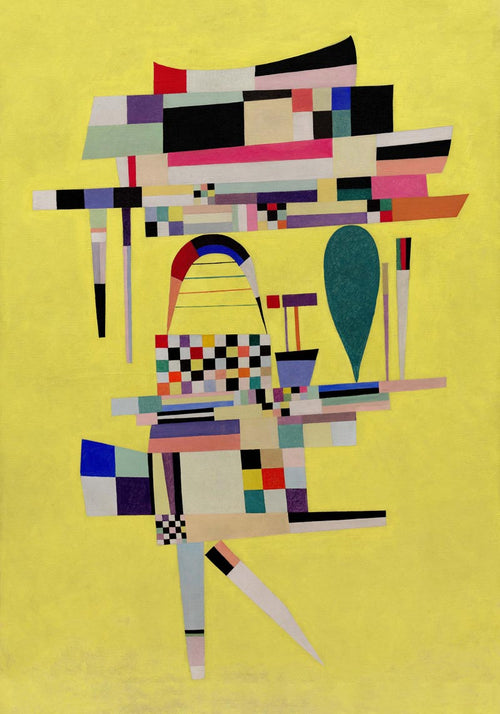 Yellow Painting by Wassily Kandinsky Poster