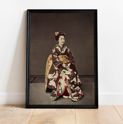 Woman Posing by Kimbei Vintage Photography