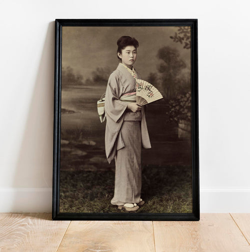 A Japanese Lady by Kimbei Vintage Photography