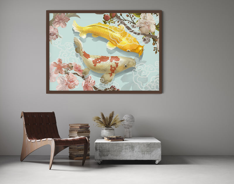 Japanese Koi Fish Poster