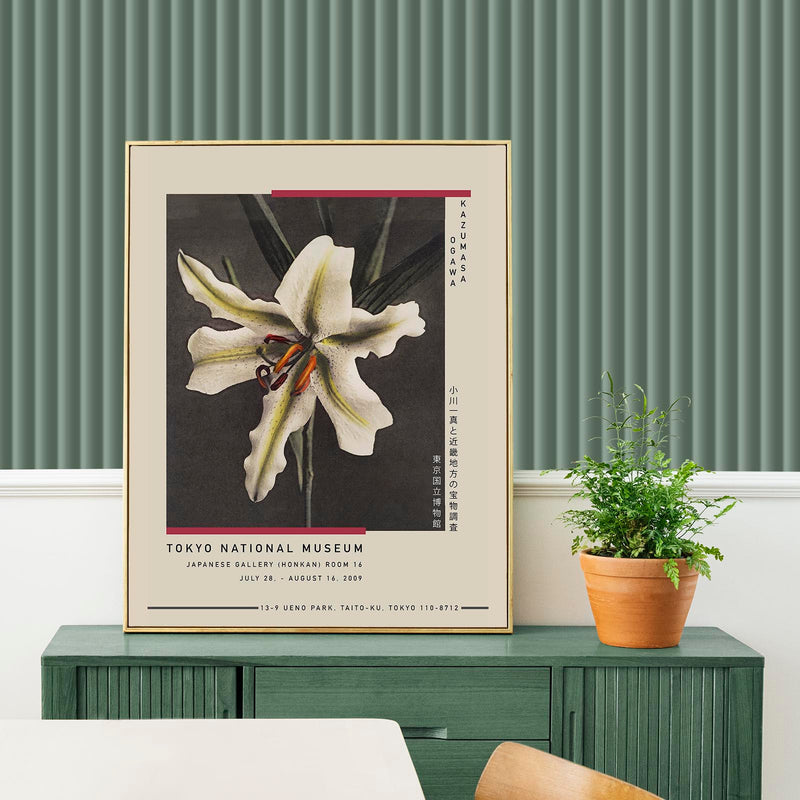 White Lily in the Dark by Ogawa Kazumasa Exhibition Poster