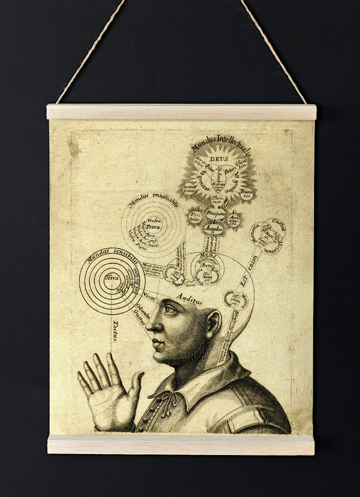 The Latin Thinker Poster - Antique science poster - perfect for your home decor