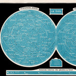 Constellations Vintage Astronomical Chart