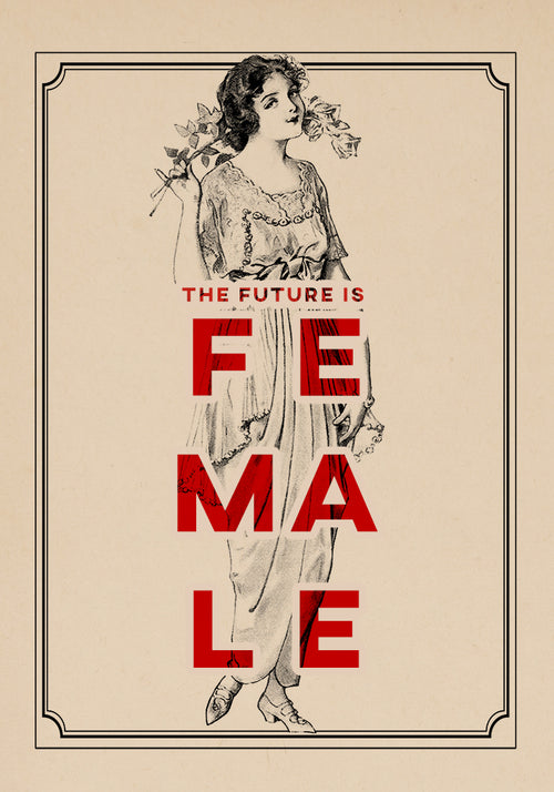 The Future is female Girl - Kuriosis Vintage Prints
