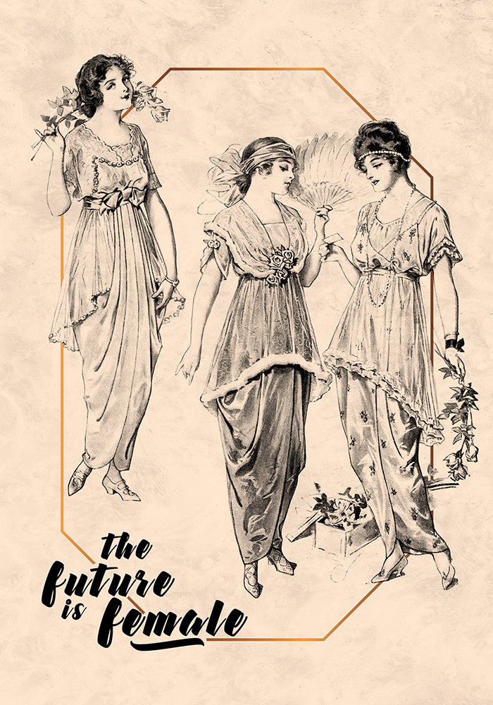 The Future is female Victorian Girls - Kuriosis Vintage Prints