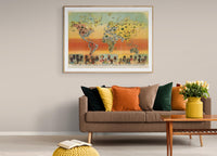 Climatic Chart of the World Poster Science Illustration in your Living Room as Art