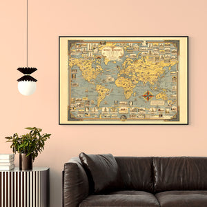 World of Wonders Map Poster