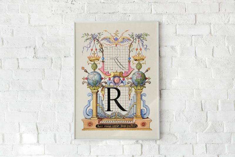 Guide for Constructing the Letter R by Georg Bocskay.