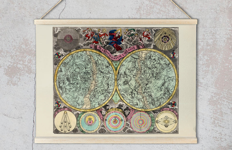 Ethereal Constellations Antique Celestial Chart