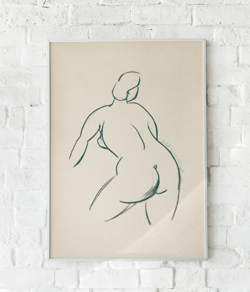 Self love nude Poster by Carl Newman