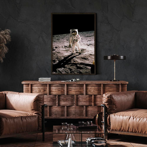 NASA Astronaut on the Moon Poster