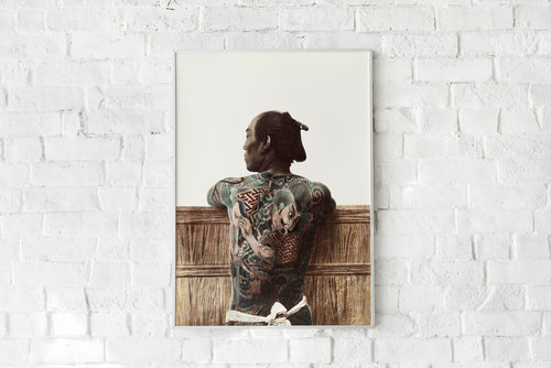 Japanese Man with Tattoo by Kimbei Vintage Photography