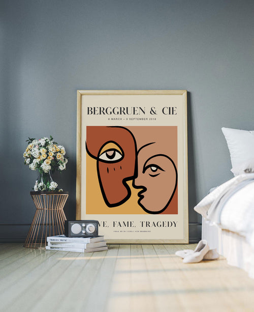 Gimini Art Exhibition Poster inspired by the art of Pablo Picasso created by KURIOSIS