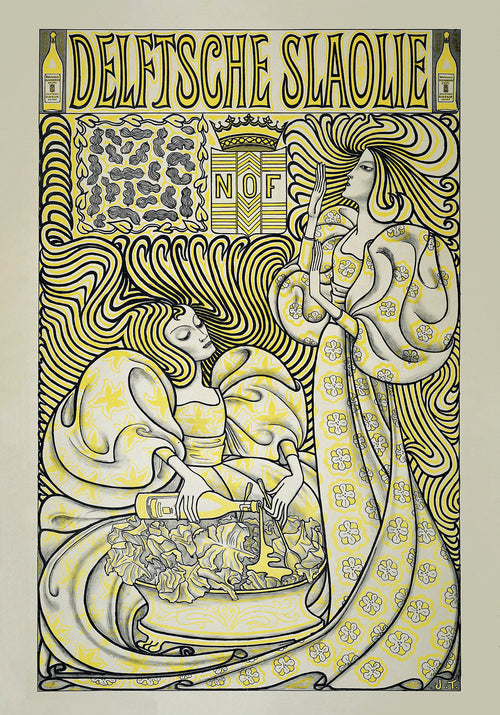 Salad Oil Ad Vintage Poster by Jan Toorop