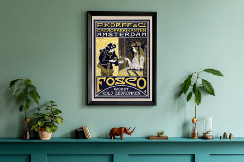 Korff & Co. Cocoa Brand Ad Vintage Poster by Willem Pthast