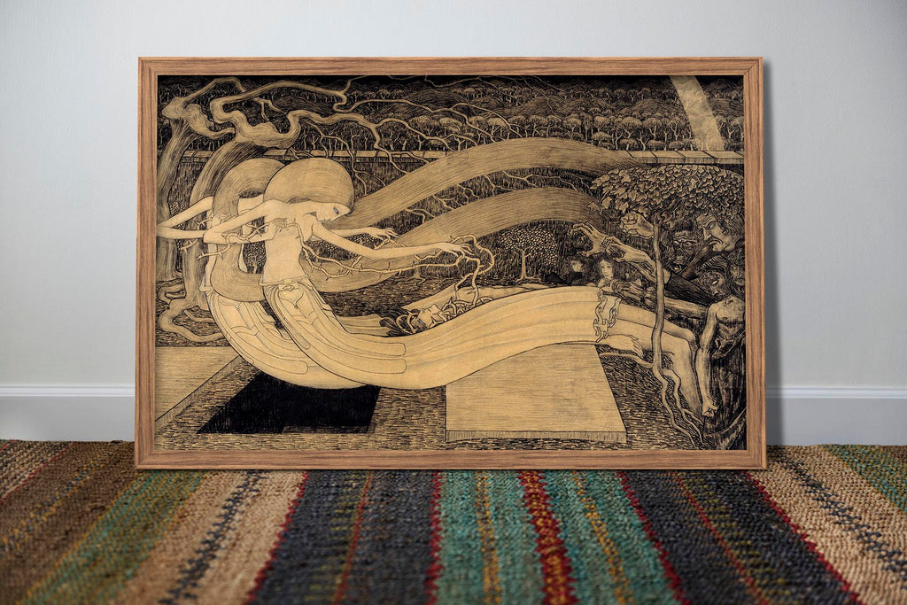 O Grave, where is thy Victory by Jan Toorop Art Poster