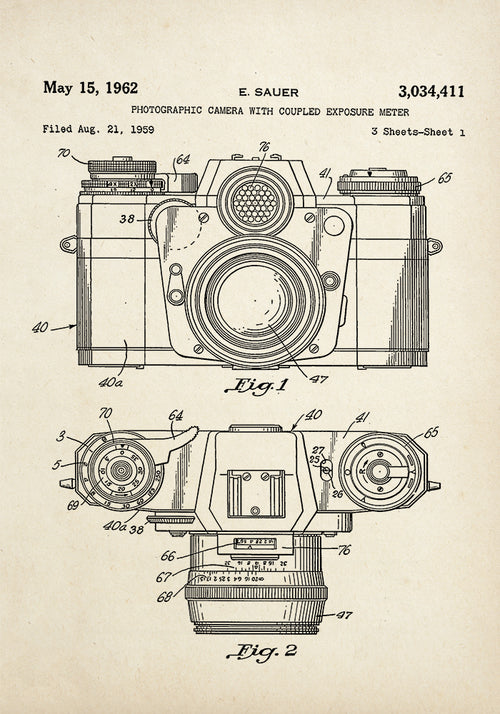 Camera Patent Poster - Perfect for any Room ! - Kuriosis Vintage Prints